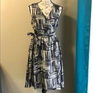 GAP 100% Silk Wrap Dress